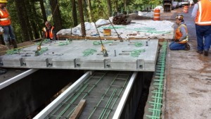 Salt Creek deck panel erection