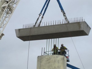 Erection of Precast Pier Cap