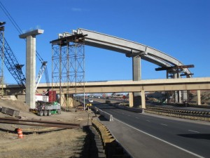 Erection of Curved Spliced Precast U-Girders