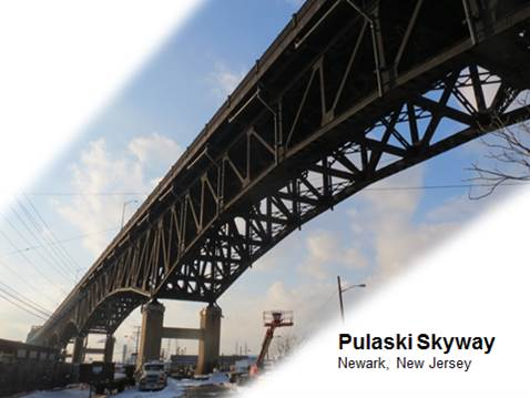 Pulaski Skyway Bridge with UHPC connections in deck