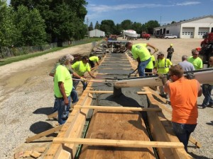 Casting pi-girder in Buchanan County facility