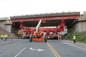 Moving old EB span out on SPMTs