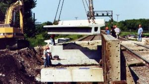 September 2016_Photo 1_Precast elements with brief track outage