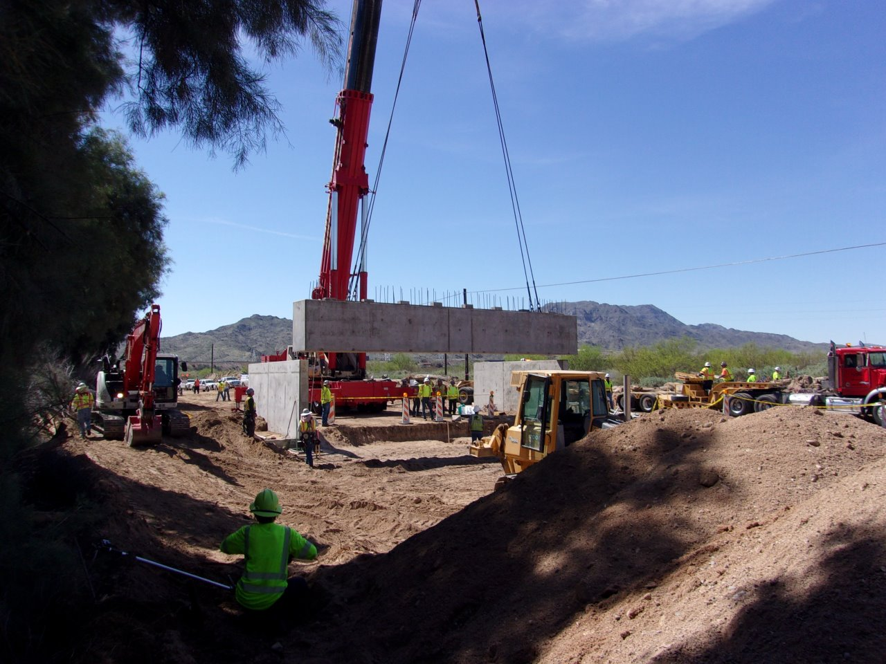 87 Hour Bridge Construction In Arizona Abc And Arc At The